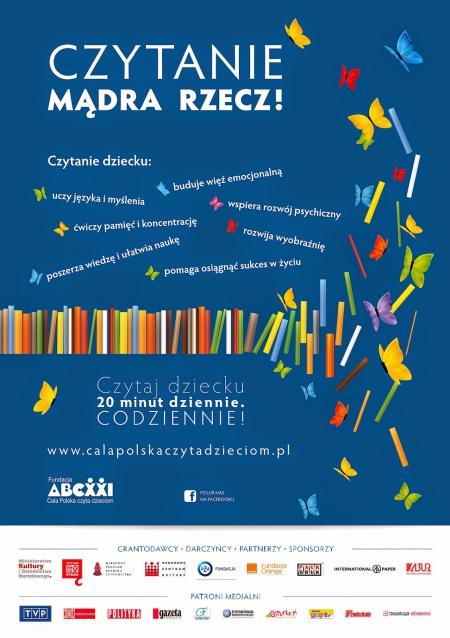 Wpływ czytania na rozwoj dziecka - akcja skierowana do rodziców